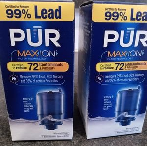 PUR Mineral Clear Faucet Water Filter 2 Packs Blue